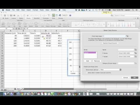 Excel for Lab Reports- Basic