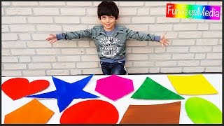 Learn Shapes for Children and Toddlers | Learn Colors for Kids with Shapes Educational Video