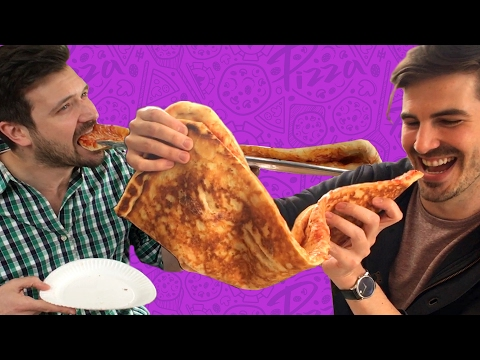 Thumbnail: Friends Try Finishing One Of The World's Largest Pizza Slices