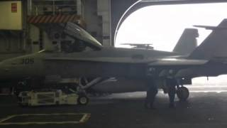 USS Carl Vinson (CVN70) Hanger Bay