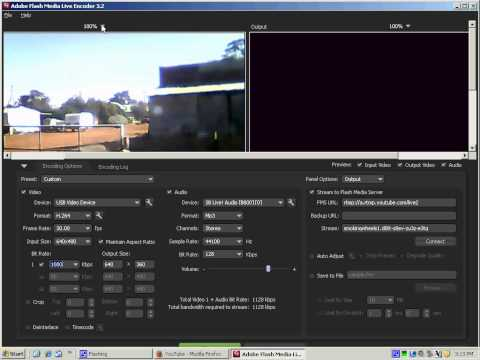 "Live Event how to with Adobe Encoder and USB Cam ""Freeware"""