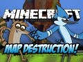 Minecraft | REGULAR SHOW VS RIVEL REBELS MOD - Map Destruction! (Mordecai and Rigby)