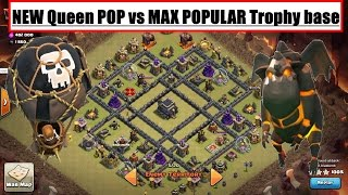 NEW! Queen POP LaLoon vs POPULAR TH9 Trophy Base. 3 Star War Attacks. Clash of Clans