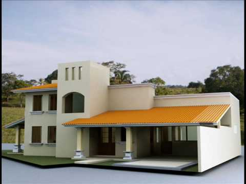 Casa contenporanea mexicana youtube for Planos de casas modernas mexicanas
