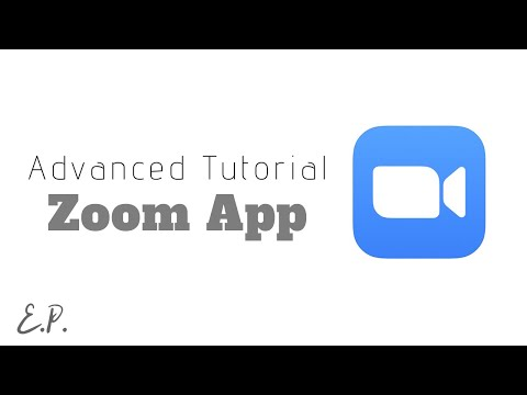 Zoom Advanced Features Tutorial