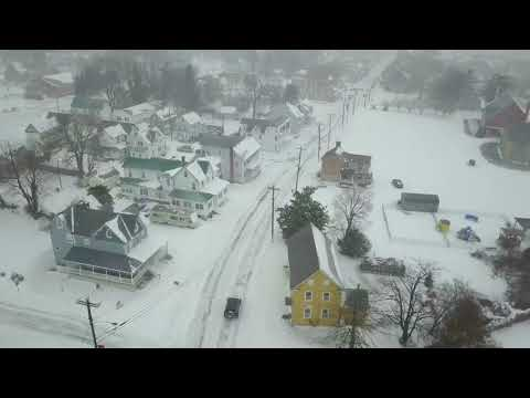 Jan 2018 snow storm drone flying jeep driving Milford Delaware