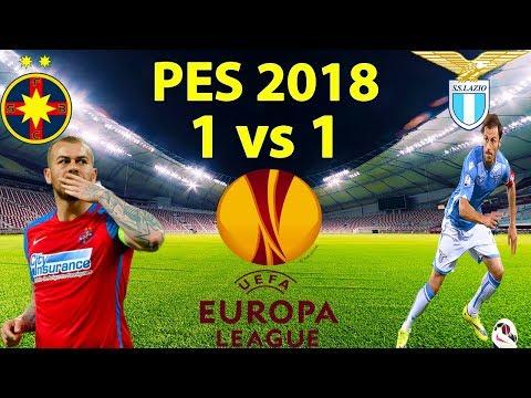 Steaua Bucuresti vs Lazio Roma Uefa Europa League - PES 2018 1 vs 1