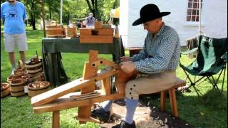 This is a video of 'Jack the Cooper' making barrels as they would h...