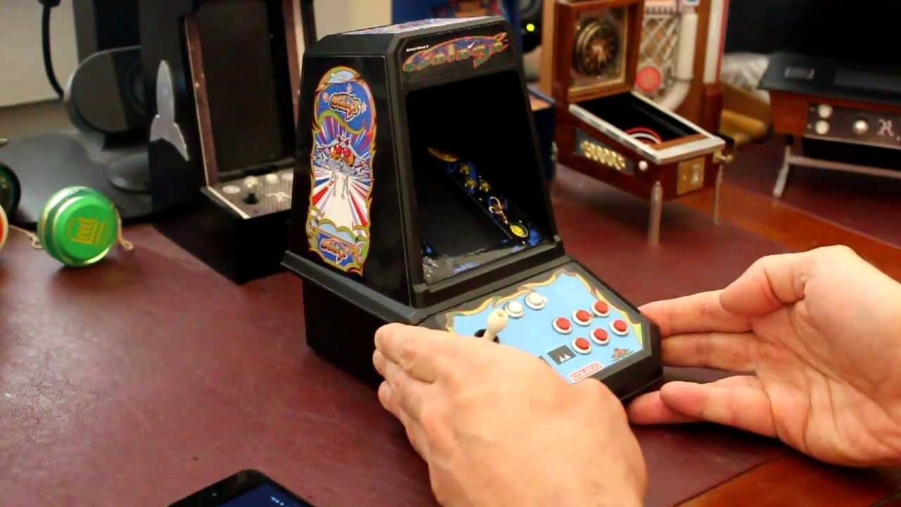 Mini Handheld Arcade Game Classic Galaga Arcade Gameplay