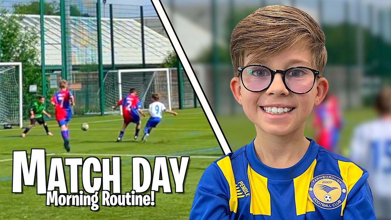 RALPH'S FOOTBALL MATCH DAY | MORNING ROUTINE!! *WILL HE SCORE?