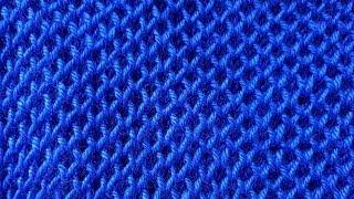 Обьемный рельефный узор  пышная сеточка видео урок вязание спицами