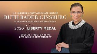 2020 Liberty Medal Honoring Justice Ruth Bader Ginsburg