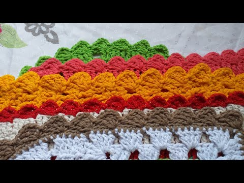 Bico de crochê para tapetes #simples #fácil #bicodecroche