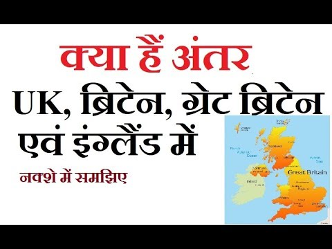 Difference between UK, Britain, Great Britain and England, इंग्लैंड,ब्रिटेन, यूके में क्या अंतर है