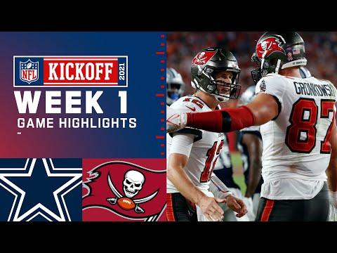 Dallas Cowboys vs. Tampa Bay Buccaneers   Week 1 2021 Game Highlights