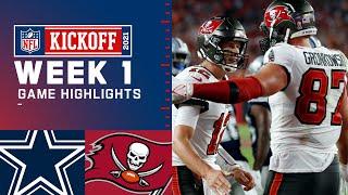 Dallas Cowboys vs Tampa Bay Buccaneers Week 1 2021 Game Highlights