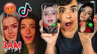 DO NOT CALL CHARLI D'AMELIO ADDISON RAE AT THE SAME TIME!! (OMG THEY MADE A TIKTOK IN MY HOUSE!)