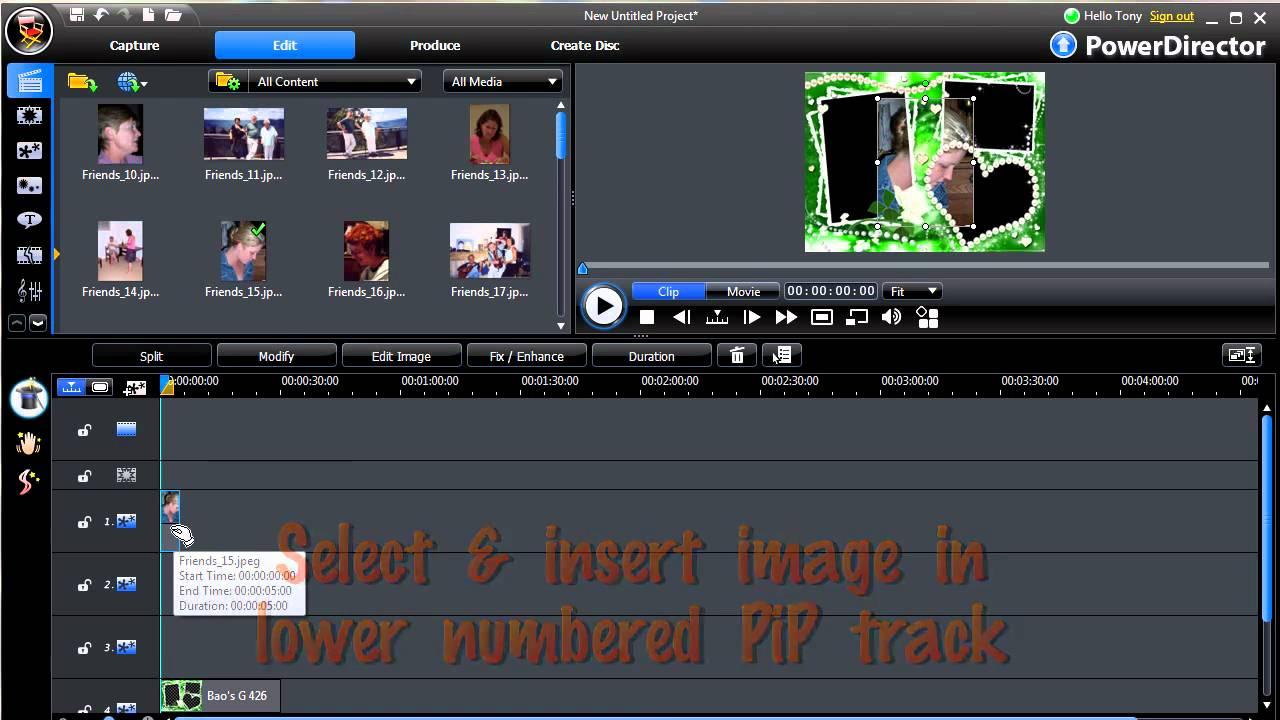 PowerDirector - Frame Fitting - YouTube