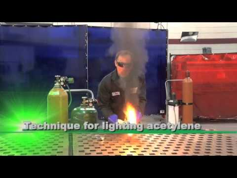 Victor Lighting Acetylene Torch - YouTube