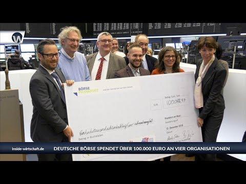 Deutsche Börse AG spendet über 100.000 Euro an vier Organisationen