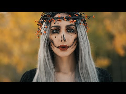 Halloween Queen Makeup ft. Musegetes Ombré Silver Synthetic Lace Front Wig