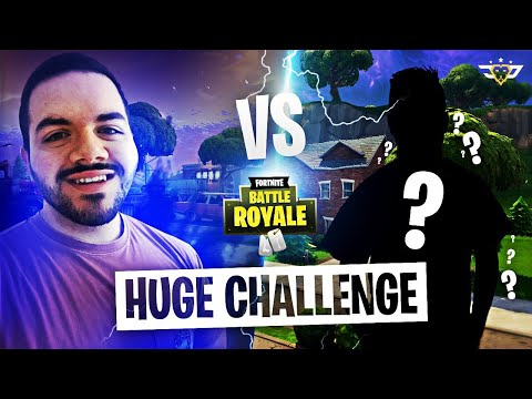 EPIC CHALLENGE VS RANDOM DUO - HE WAS ON CONTROLLER?! (Fortnite: Battle Royale)