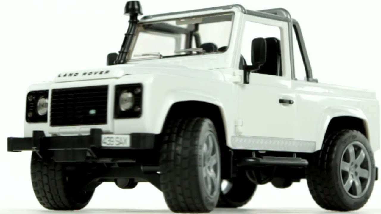 land rover defender pick up bruder 02591 muffin songs. Black Bedroom Furniture Sets. Home Design Ideas