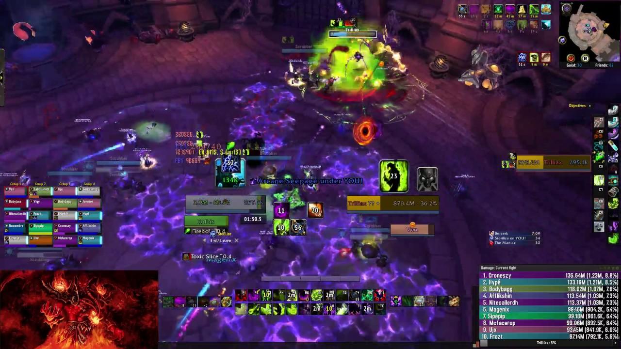 1 12m Dps Destruction Warlock Vs Easy Mythic Encounter Youtube