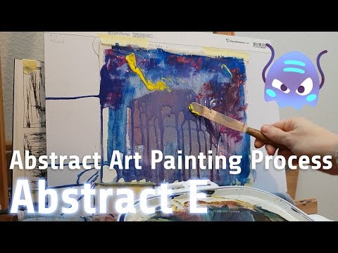 """Relaxing Creation of Acrylic Painting """"Abstract E"""". Watch this abstract art piece develop!"""