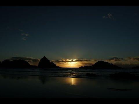 Sunset at Harris Beach State Park, Brookings, Oregon