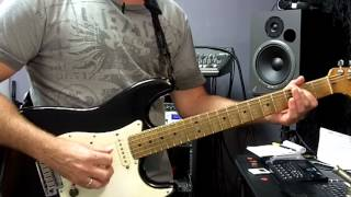 bm 101 12 bar blues in a using open chord forms a5 d5 and e5