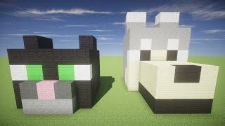 Как построить ДОМ КОТОПЕС в Майнкрафт для выживания - Дом Кот и Собака