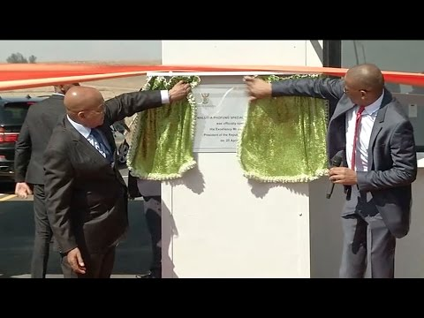 President Jacob Zuma launches the Maluti-a- Phofung Special Economic Zone in Harrismith