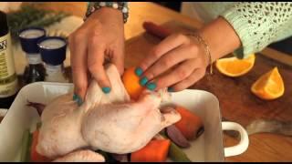 Roast Chicken With Heirloom Vegetables