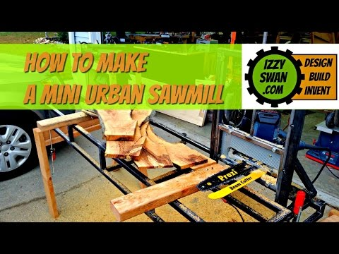 (how to make) a urban sawmill with a circular saw