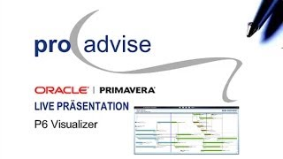Oracle Primavera P6 Visualizer Webcast