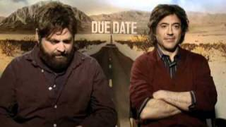 Zach Galifianakis & Robert Downey Jr. Interview  - Due Date