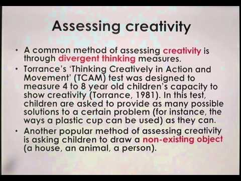 Magical Thinking, Lecture 4. Magical thinking and creativity in preschool children