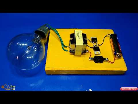 inverter 1 5v to 220v how to make inverter made to easy simple circuit new idea