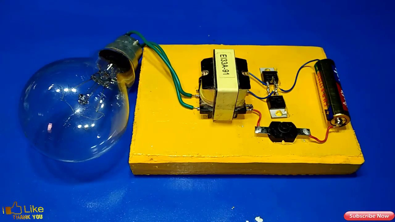 Inverter 1 5v To 220v How Make Made Easy Simple Power Circuit With Built In Charger Electronic New Idea Multi Electric