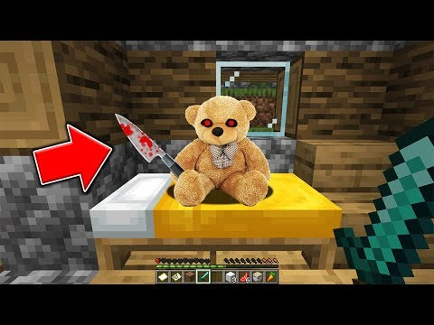 This Teddy Bear Turns Into Something TERRIFYING When You Look Away... (Scary Minecraft Video)