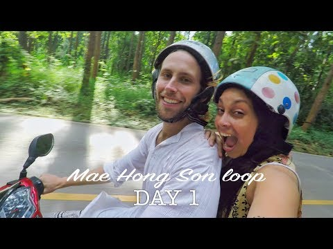 OUR WAY FROM CHIANG MAI TO PAI - SLIPPERY IN CHIANG DAO CAVE   MAE HONG SON LOOP - DAY 1