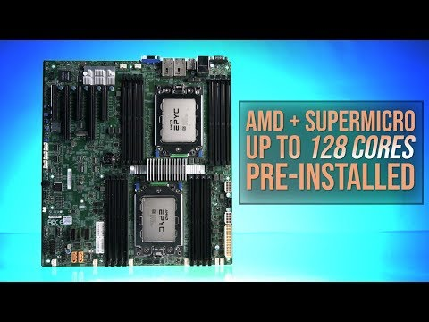Amd Epyc Rome And Supermicro Up To 128 Cores Pre Installed Youtube
