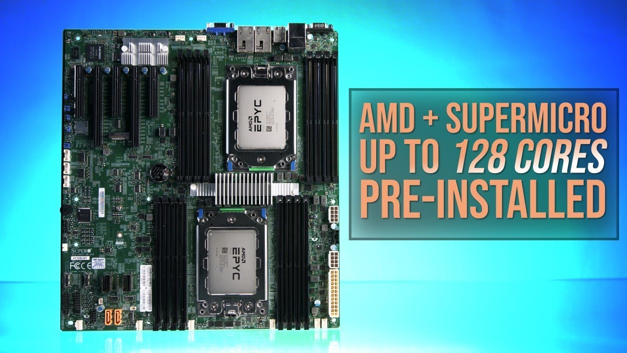 AMD EPYC Rome and Supermicro: Up to 128 cores, pre-installed