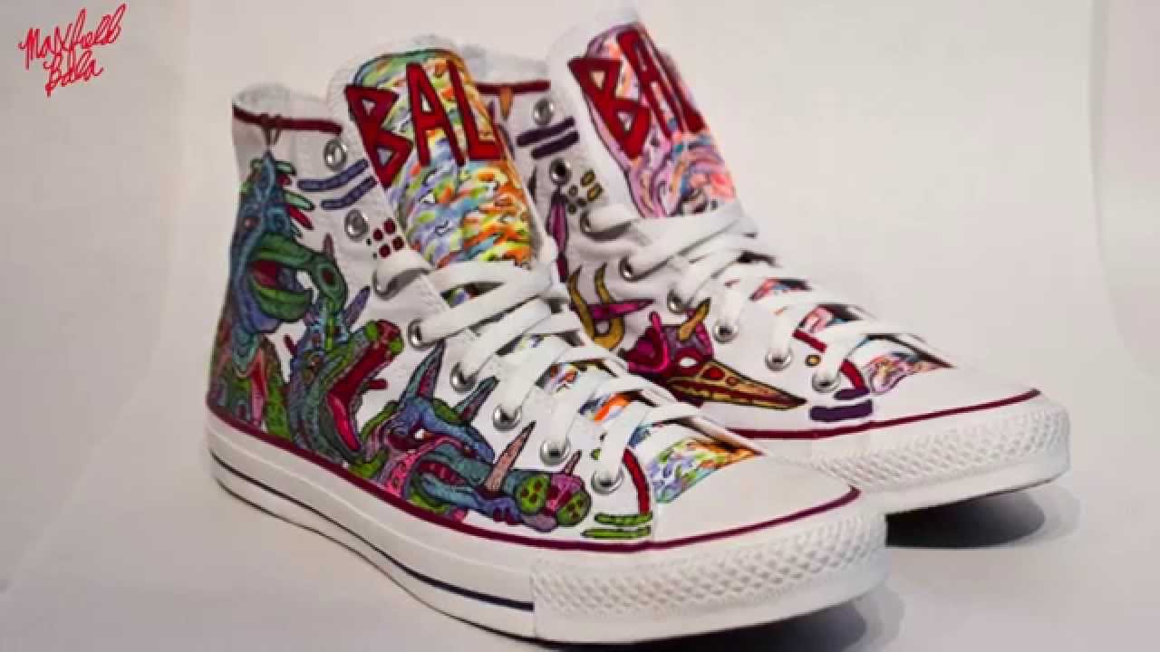 Custom All Stars >> Custom Converse All Stars Maxfield Bala Youtube