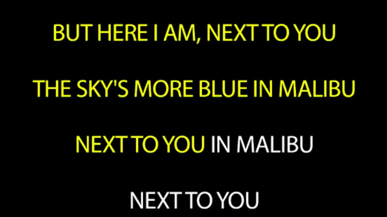 Miley Cyrus Malibu Lyrics Image Mag