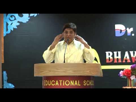 Dr Kiran Bedi Visits to Bhavans Kuwait