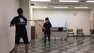 愛知の劇団アトリエ☆チンジャオロースです 殺陣練習中。形にはなった? ...