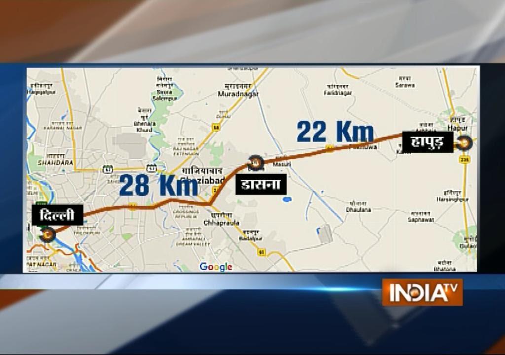 Delhi-Meerut Expressway Route Details Animation | Modi in Noida