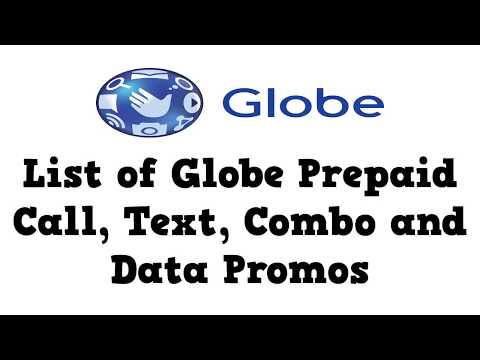 List of Globe Prepaid Call, Text, combo and Data Promos